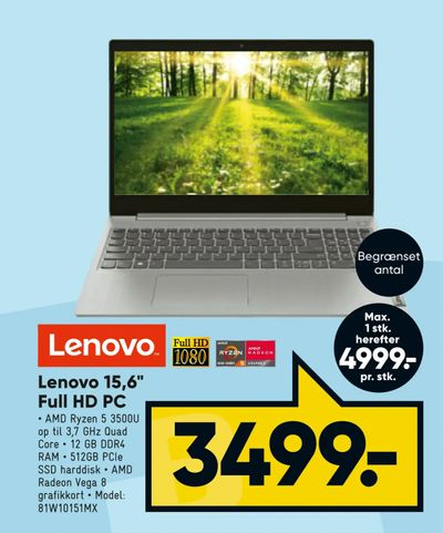 "Lenovo 15,6"" Full HD PC"