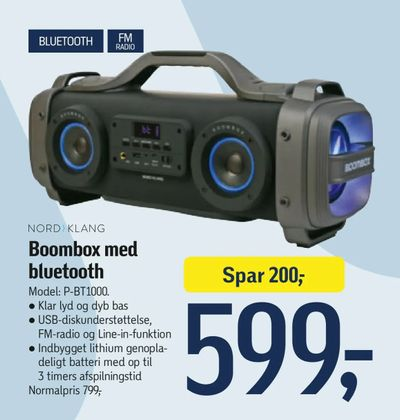 Boombox med bluetooth