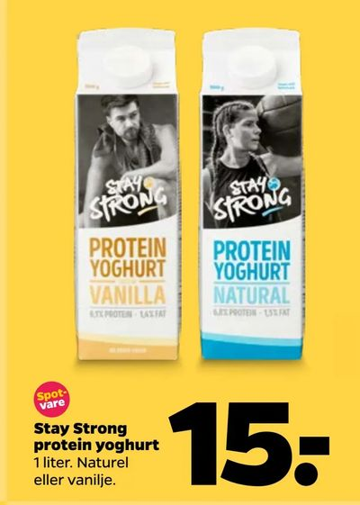 Stay Strong protein yoghurt