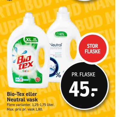 Bio-Tex eller Neutral vask