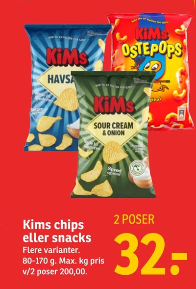 Kims chips eller snacks