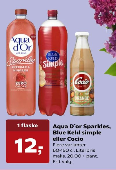 Aqua D'or Sparkles, Blue Keld simple eller Cocio