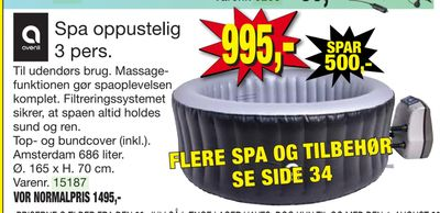 Spa oppustelig 3 pers
