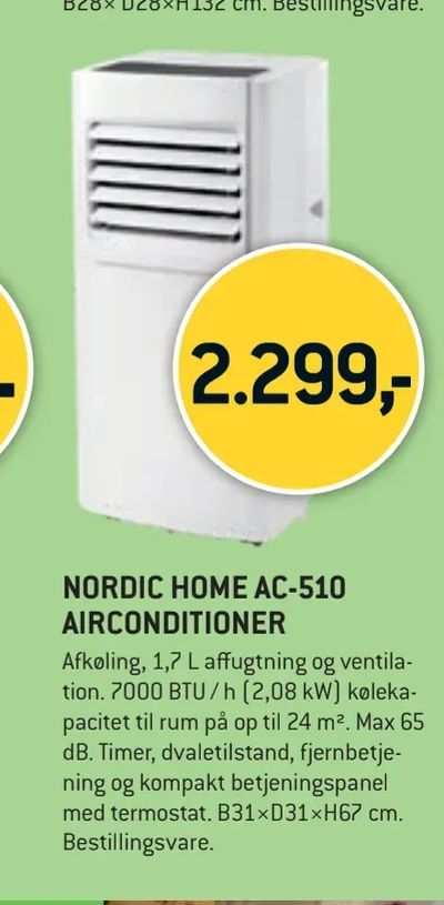 Nordic home ac-510 airconditioner