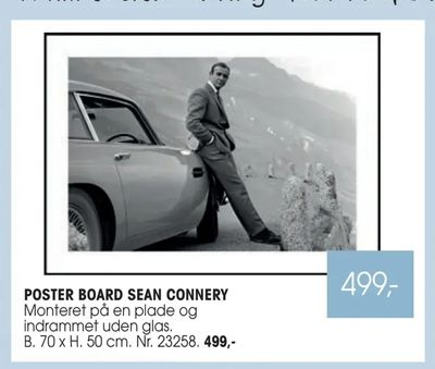 Poster board sean connery