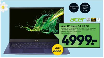 "Acer 14"" touch Full HD PC"
