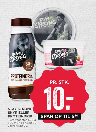 Stay strong skyr eller proteindrik