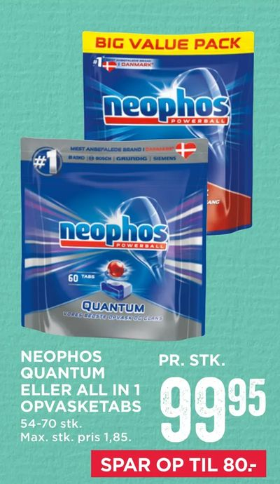 Neophos quantum eller all in 1 opvasketabs