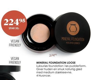 Mineral foundation loose