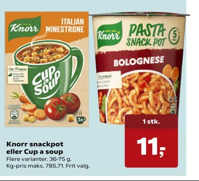 Knorr snackpot eller Cup a soup