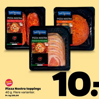 Pizza Nostra toppings