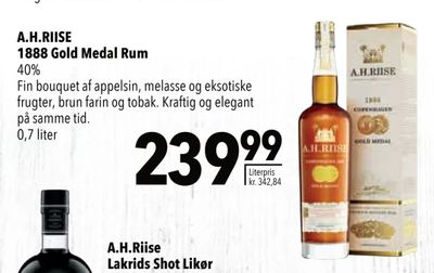 A.H.RIISE 1888 Gold Medal Rum
