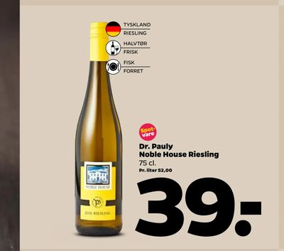 Dr. Pauly Noble House Riesling