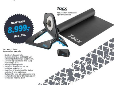 Tacx Neo 2T Smart Hometrainer giver dig