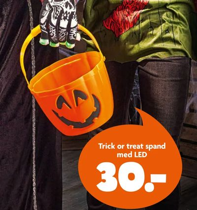 Trick or treat spand med LED