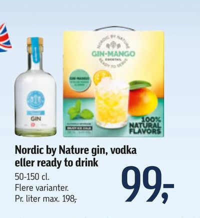 Nordic by Nature gin, vodka eller ready to drink