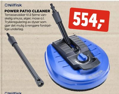 Power patio cleaner