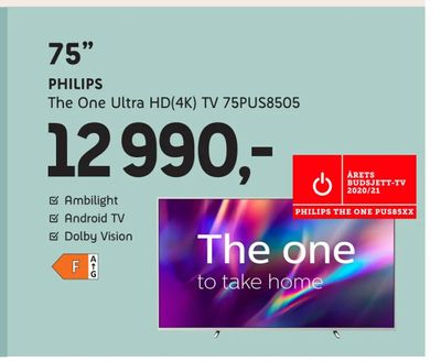 Philips The One Ultra HD(4K) TV 75PUS8505