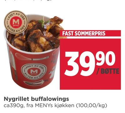 Nygrillet buffalowings