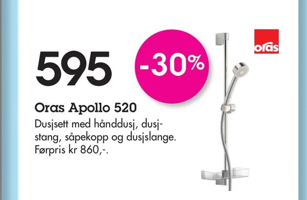 Deals on Oras Apollo 520 from Baderingen at kr 595