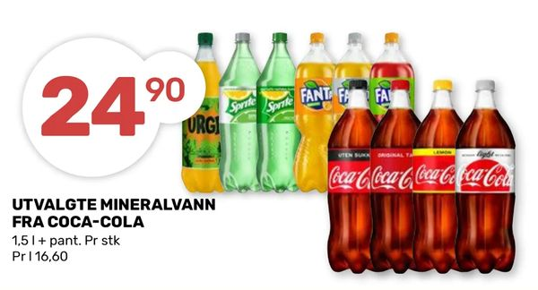 Deals on Utvalgte mineralvann fra coca-cola from Coop Marked at kr 24,90