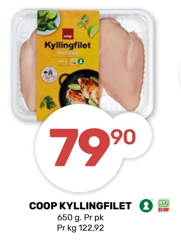 Deals on Coop kyllingfilet from Coop Marked at kr 79,90