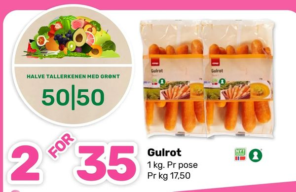 Deals on Gulrot from Coop Marked at kr 35