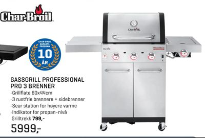 Gassgrill professional pro 3 brenner
