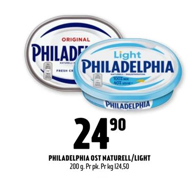 Philadelphia ost naturell/light
