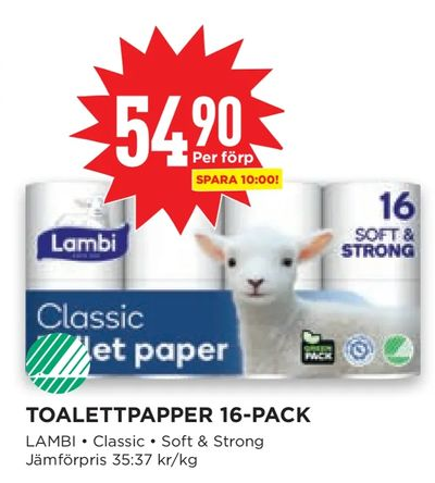 Toalettpapper 16-pack