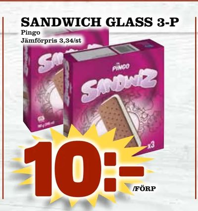 Sandwich glass 3-p