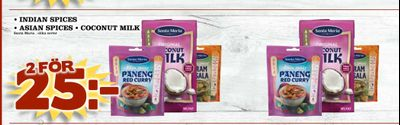 Indian spices • asian spices • coconut milk
