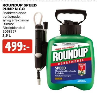 Roundup speed pump n go