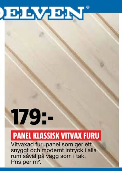 Panel klassisk vitvax furu