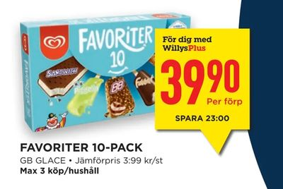 Favoriter 10-pack