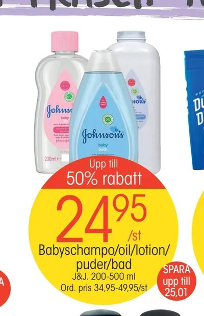 Babyschampo/oil/lotion/ puder/bad