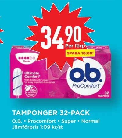 Tamponger 32-pack