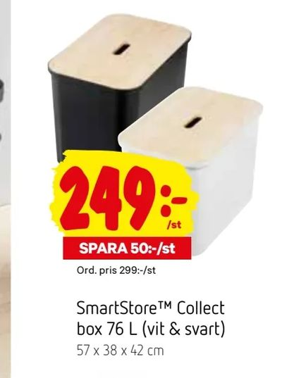 SmartStore™ Collect box 76 L (vit & svart)