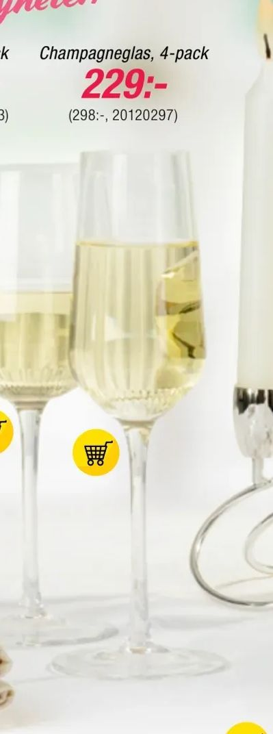 Champagneglas, 4-pack