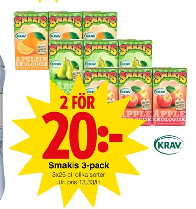 Smakis 3-pack