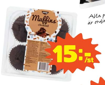 Chokladmuffins 4-pack. Coop.